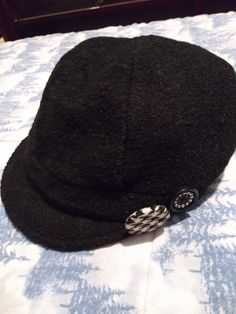 e2975250caf0e Black White Boucle Houndstooth Check Ladies Newsboy Hat Bling Lined Wool  Blend  fashion  clothing  shoes  accessories  womensaccessories  hats (ebay  link)
