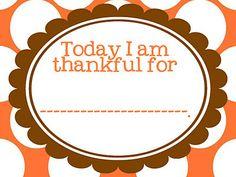 Thankful For Free Thanksgiving Printable