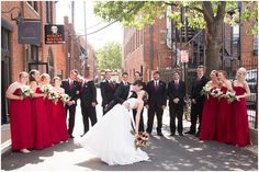 Bridal party in alley: Short North Wedding Columbus, Ohio - Kaylina Norton Photography