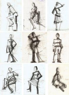 наброски фигуры человека сидящего - Поиск в Google