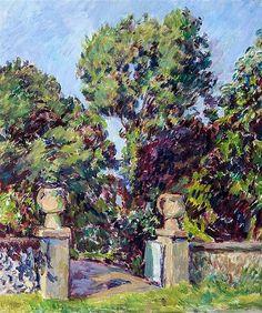 Duncan Grant: Ornamental urns in Charleston garden