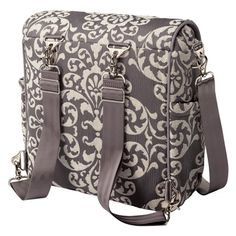 Petunia Pickle Bottom Diaper Bag Boxy Backpack Earl Grey