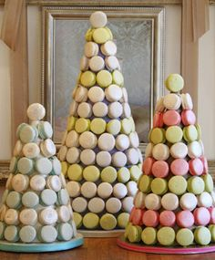 French macaron towers are a great addition to sweet tables.   I want these just to have by my nightstand. I get hungry at night DO NOT JUDGE ME!!