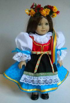 "Fits 18"" American Girl doll Czech kroj folk dress clothes I (COSTUME ONLY) #Handmade #ClothingShoes"