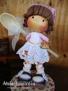 Boneca Cozinheira Magnólia Lalaloopsy, Foam Crafts, Diy Crafts, Baby Teddy Bear, Magnolia Stamps, Decorated Jars, Pasta Flexible, Pretty Dolls, Diy Clay