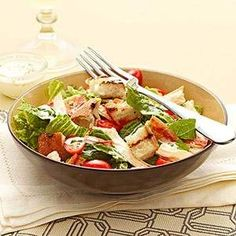 CHICKEN BLT SALAD BY FITNESS MAG #recipe #healthyrecipes #cleaneating