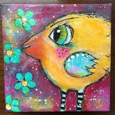 Birds with Jodi Ohl. Acrylic by Betsy Walcheskk