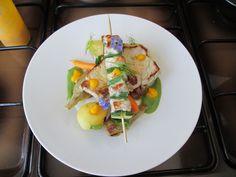 Costoletta e  spiedino grigliato  di maiale e verdure  Gino D'Aquino