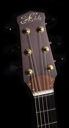 Fylde Guitars Eric Bibb Signature headstock... interesting truss rod cover design