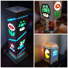 Level up your living space awesome Lego Lamp, Mario Crafts, Level Up, Embedded Image Permalink, Arcade Games, Living Spaces, Table Lamp, Lighting, Awesome