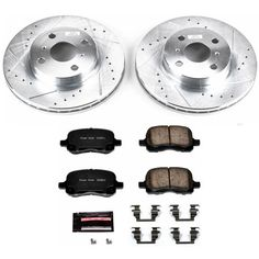 NEW For Chevrolet Cobalt 2005-2006 Front Brake KIT Rotors /& Pad Set Brembo//Bosch