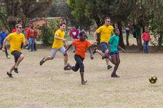 Dunlop Hamba teams being schooled at soccer at Weenan Primary School