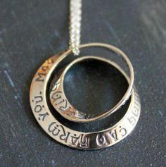 Irish Blessing Double Mobius Necklace... simply stunning and flying off the shelves