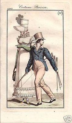1813 Costume Parisien No 31 A smart boy's outfit. Costume Parisien, 1813. - German edition