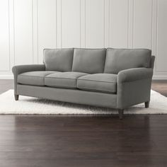 Montclair is a model of classic proportions, well-balanced and beautifully tailored.  The 3-seat living room sofa sits a bit more upright—not too low, not too deep—but with plenty of comfort.