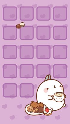 Molang Purple Home Screen