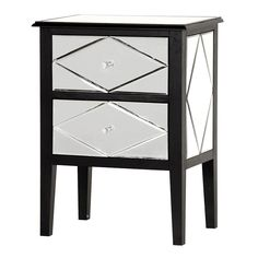 Beautifully Designed Miroir Bedside Which Comes with The Size Of x x x and good quality material Inside as well as Outside Mirrored Bedroom Furniture, French Furniture, Contemporary Furniture, Luxury Furniture, Mirror Bedside Table, Bedside Drawers, Ikea Hack Bedroom, Master Bedroom Makeover, Glasgow