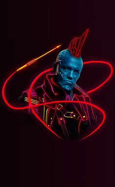 Yondu:Marvel Neon Wallpaper