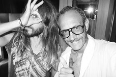 Me and Jared on his tour bus.
