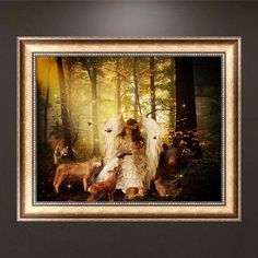 DIY 5D Diamond Painting Forest Angel Embroidery Cross Stitch Crafts Home Decor Kits For Embroidery Painting Rhinestones Decor