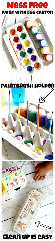 Great idea for those afternoon painting adventures!!