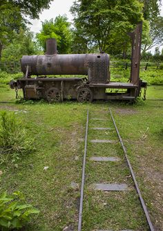 Remains of an old miniature gauge train