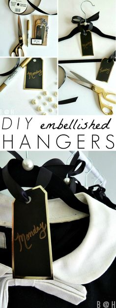 DIY Embellished Hangers for Weekly Outfit Planning