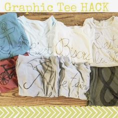 Prints {Pockets} & Pumps: Graphic Tee Hack diy, fashion, craft, make it, jcrew