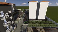 Projeto de paisagismo e estacionamento para o Condomínio Residencial dos ipês Montes Claros, realizado pela empresa Vida Verde - Não esqueça Contrate um arquiteto!