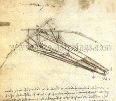 Leonardo Da Vinci-Einer von Leonardo da Vinci's entwürfe für ein ornithopter