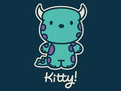Kitty! Cute cartoon mashup shirt from TeeTurtle. A very popular design!