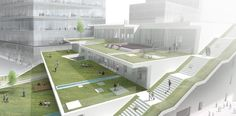 Green Square Library & Plaza Design Competition Entry / Hyunjoon Yoo Architects