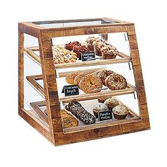 A display case presents the inner-self of the creator. With a look at the display case, you can know the person inside. There are DIY display case ideas. Bakery Display Case, Pastry Display, Display Cases, Bread Display, Glass Display Case, Bakery Design, Cafe Design, Restaurant Interior Design, Modern Restaurant