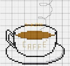 Schema punto croce Caffe-bollente