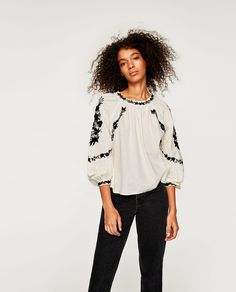 ZARA - SALE - SHORT TUNIC WITH EMBROIDERY