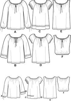 59 Ideas For Sewing Blouse Pattern Free Projects Blouse Pattern Free, Tunic Sewing Patterns, Sewing Blouses, Clothing Patterns, Dress Patterns, Top Pattern, Free Pattern, Coat Patterns, Pattern Ideas