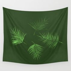 A personal favorite from my Etsy shop https://www.etsy.com/listing/455865210/green-palm-leaf-wall-tapestry-palm