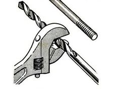 Crescent as Caliper by popularmechanics, 1965: Use an adjustable wrench to determine a bolt's diameter and match the jaw's reading with a corresponding drill bit diameter. #Hack #popularmechanics Cool Tools, Diy Tools, Handy Tools, Making Tools, Garage Tools, Garage Shop, Diy Garage, Garage Ideas, Homemade Tools