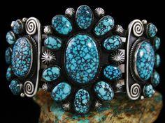 Calvin Martinez Rare Gem Grade Red Web Kingman Turquoise Ingot Cluster Bracelet | Jewelry & Watches, Handcrafted, Artisan Jewelry, Bracelets | eBay!