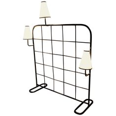 Genuine Jean Royère Room Divider and Luminaire, France, 1949   From a unique collection of antique and modern floor lamps  at https://www.1stdibs.com/furniture/lighting/floor-lamps/