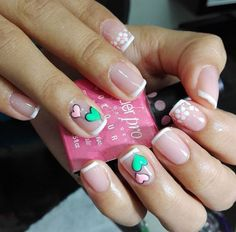 Cute Nails, My Nails, Hello Nails, Uñas Diy, Manicure Y Pedicure, French Nails, Simple Nails, Triangles, Nail Designs