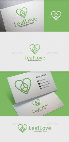 Leaf Love - Nature Logo Templates