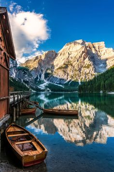 Bucket list alert: Lago di Braies Italy is one of the most popular summer vacation destinations according to For more vacation inspiration see link in bio! by elledecor Italy Vacation, Vacation Destinations, Dream Vacations, Italy Travel, Romantic Vacations, Romantic Travel, Holiday Destinations, Places To Travel, Places To See