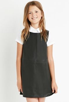 Girls Faux Leather Shift Dress (Kids) | Forever 21 girls - 2000146119