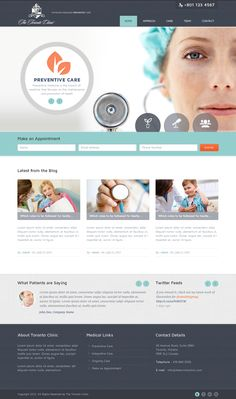 Doctor / Healthcare / Medical Website design layout. Inspirational UX/UI design samples. Visit us at: www.sodapopmedia.com #WebDesign #UX #UI #WebPageLayout #DigitalDesign #Web #Website #Design #Layout
