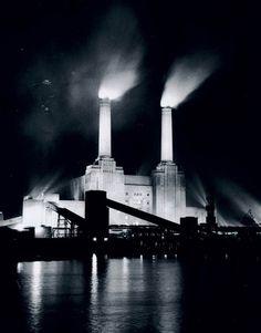 Battersea Power Station, London, 3 January 1956.