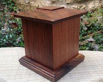 Handcrafted Solid Black Walnut Wood Keepsake / Pet Cremation Urn