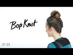 Bop Knot - Combine a Top Knot Bun with a Braid | TRESemmé Style Setters - YouTube