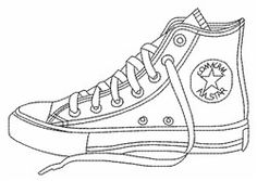 Dibujo Zapatillas Colorear Para Converse Manualidades 0Pq8S