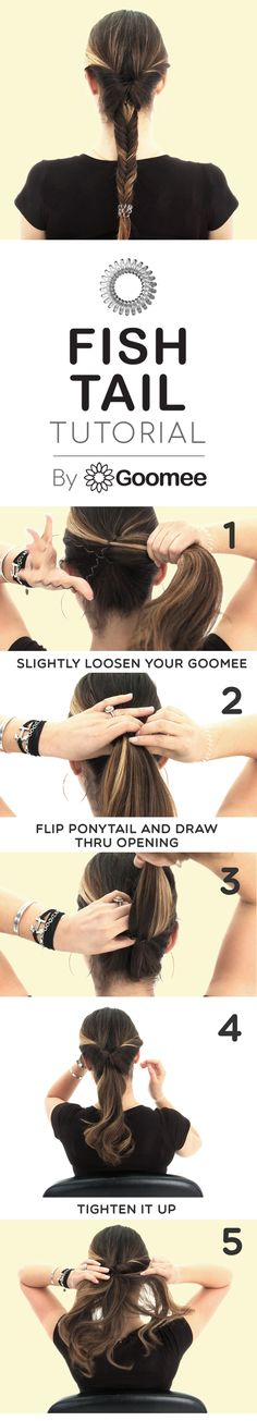 The perfect fish tail hair tutorial by Goomee, The Markless Hair Loop